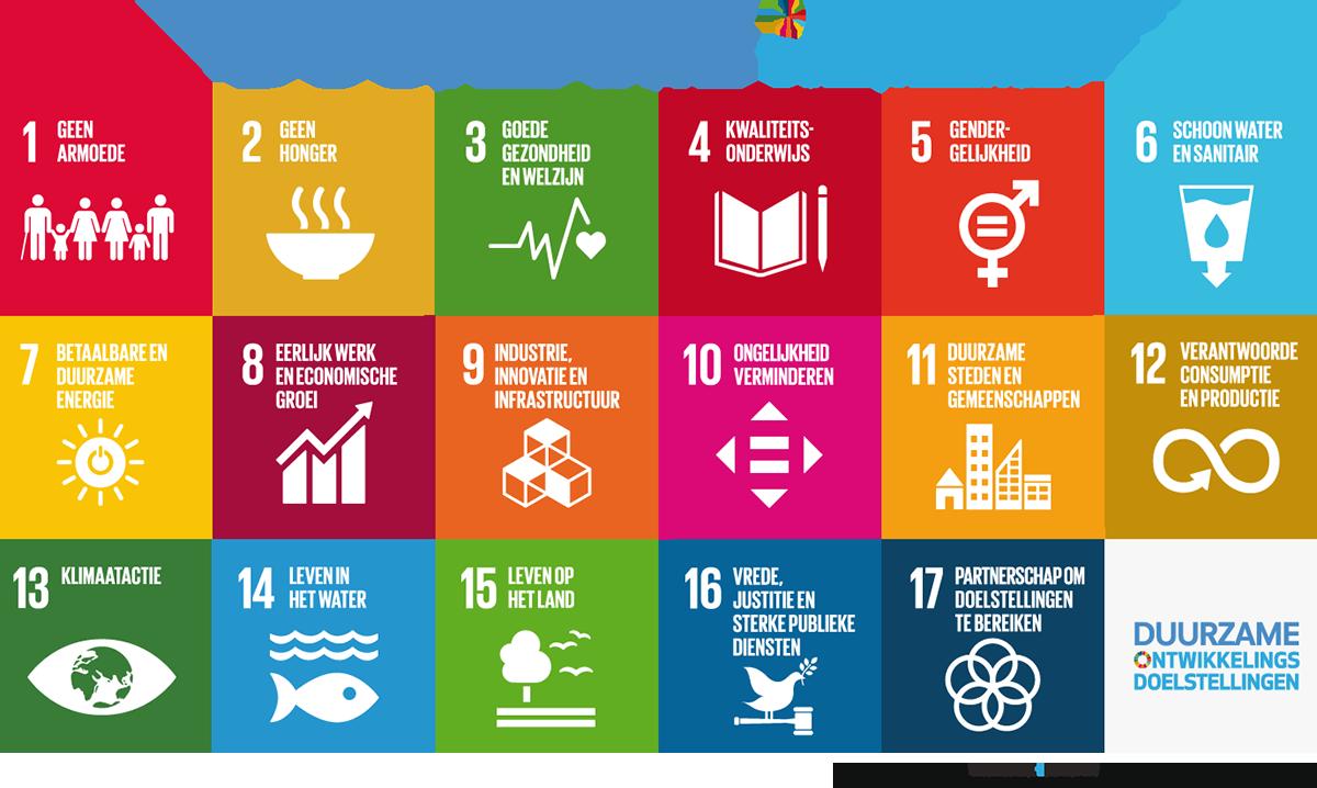 Overzicht van de Sustainable Development Goals