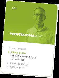 Visitekaartje Edwin de Vos (Professional Play)